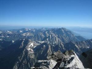 View from the summit of the Grand Teton